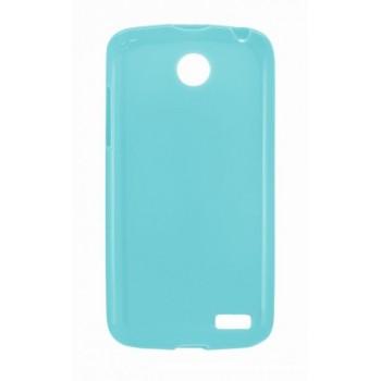 Чехол силиконовый Silicone Matte Gloss Case Blue для Lenovo A516