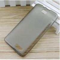 Чехол силиконовый полупрозрачный Silicone Matte Gloss Case Grey для Lenovo A526