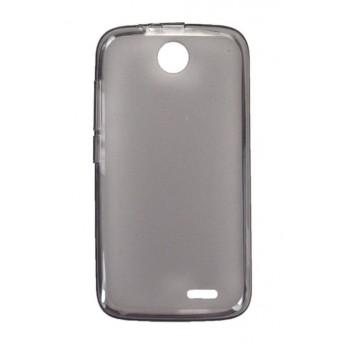 Чехол силиконовый полупрозрачный Silicone Matte Case Grey для Lenovo A560
