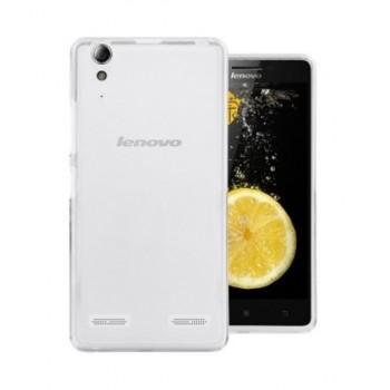 Чехол силиконовый полупрозрачный Silicone Matte Gloss Case White для Lenovo А6000