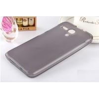 Чехол силиконовый полупрозрачный Silicone Matte Gloss Case Grey для Lenovo A606