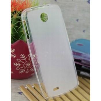 Чехол силиконовый полупрозрачный Silicone Matte Gloss Case White для Lenovo A630