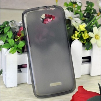 Чехол силиконовый прозрачный Silicone Matte Gloss Case Black для Lenovo A670t