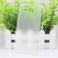 Чехол силиконовый прозрачный Silicone Matte Gloss Case White для Lenovo A680