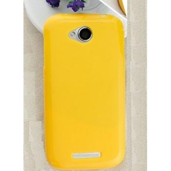 Чехол силиконовый Silicone Case Yellow для Lenovo A706