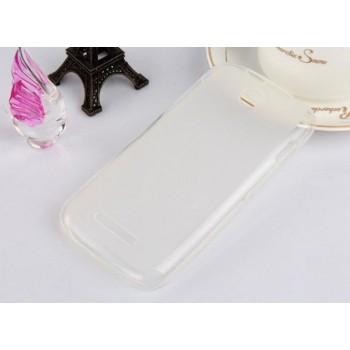 Чехол силиконовый полупрозрачный Silicone Matte Gloss Case White для Lenovo A760