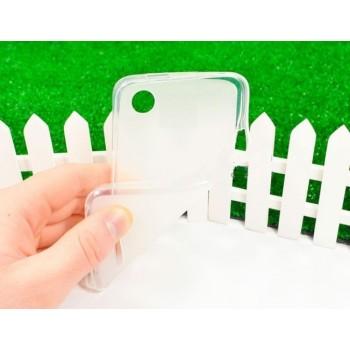 Чехол силиконовый полупрозрачный Silicone Matte Gloss Case White для Lenovo A800