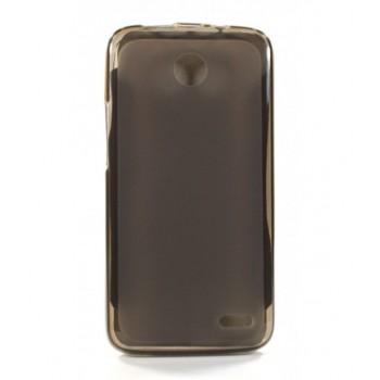 Чехол силиконовый полупрозрачный Silicone Matte Gloss Case Black для Lenovo A820