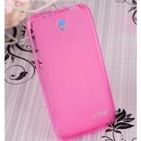 Чехол силиконовый полупрозрачный Silicone Matte Gloss Case Pink для Lenovo A820