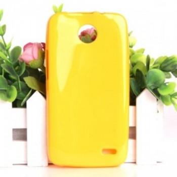 Чехол силиконовый Silicone Matte Gloss Case Yellow для Lenovo A820