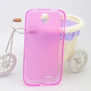 Чехол силиконовый полупрозрачный Silicone Matte Gloss Case Pink для Lenovo A830