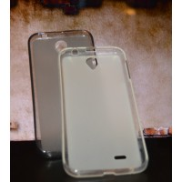 Чехол силиконовый прозрачный Silicone Matte Gloss Case White для Lenovo A850