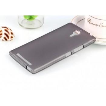 Чехол силиконовый прозрачный Silicone Matte Gloss Case Black для Lenovo P90/K80