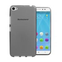 Чехол силиконовый полупрозрачный Silicone Matte Gloss Case Black для Lenovo S60