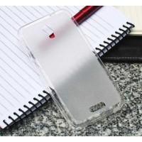 Чехол силиконовый прозрачный Silicone Matte Gloss Case White для Lenovo S660