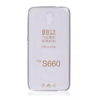 Чехол силиконовый прозрачный Silicone Gloss Case Clear для Lenovo S660