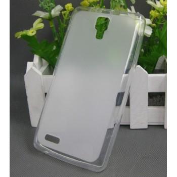 Чехол силиконовый прозрачный Silicone Matte Gloss Case White для Lenovo S750