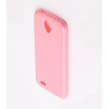 Чехол силиконовый Silicone Matte Gloss Case Light Pink для Lenovo S820