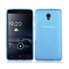 Чехол силиконовый полупрозрачный Silicone Matte Gloss Case Blue для Lenovo S860