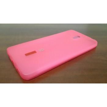 Чехол силиконовый полупрозрачный Silicone Capdase Matte Pink для Lenovo S860
