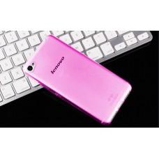 Чехол силиконовый полупрозрачный Silicone Case Pink для Lenovo S90