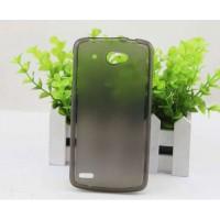 Чехол силиконовый полупрозрачный Silicone Matte Gloss Case Black для Lenovo S920