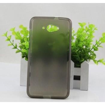 Чехол силиконовый полупрозрачный Silicone Matte Gloss Case Black для Lenovo S930