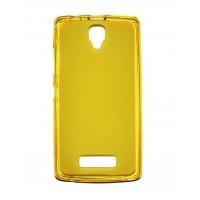 Чехол силиконовый полупрозрачный Silicone Matte Gloss Case Yellow для lenovo А2010