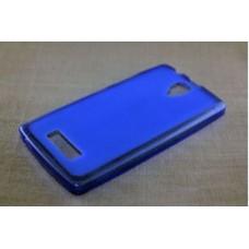 Чехол силиконовый полупрозрачный Silicone Matte Gloss Case Blue для lenovo А2010
