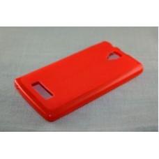 Чехол силиконовый Silicone Matte Gloss Red для lenovo А2010