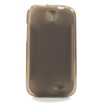 Чехол силиконовый полупрозрачный Silicone Matte Case Grey для lenovo A269i