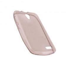 Чехол силиконовый прозрачный Silicone Case Grey для lenovo A319