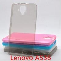 Чехол силиконовый ультратонкий Silicone Case Clear Grey для lenovo А536